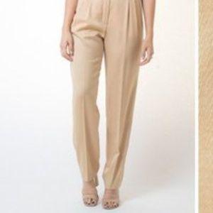 ESCADA Pure Wool Cream High Waist Trousers